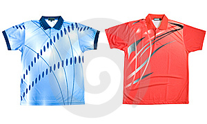 Two Sports Shirts Royalty Free Stock Photo - Image: 14248925