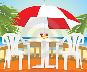 Restaurant At A Sea Royalty Free Stock Image - Image: 14249006