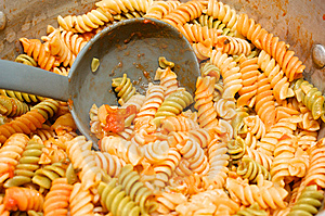 Big Pot Of Pasta Royalty Free Stock Photography - Image: 14249207