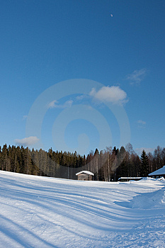 Small Wooden House In Winter. Royalty Free Stock Images - Image: 14249959