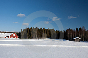 Small Wooden House In Winter. Royalty Free Stock Photography - Image: 14250027