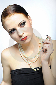 Young Elegant Aristocratic Beauty Female Face Stock Images - Image: 14250654