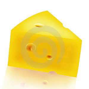 Cheese Part (With Clipping Path) Stock Photography - Image: 14252072
