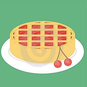 Cherry Pie Stock Image - Image: 14252401