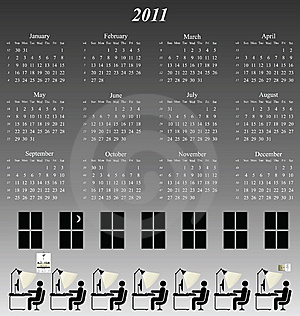 2011 Calendar Stock Photos - Image: 14252983