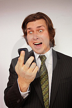 Businessman Screaming Royalty Free Stock Image - Image: 14253756