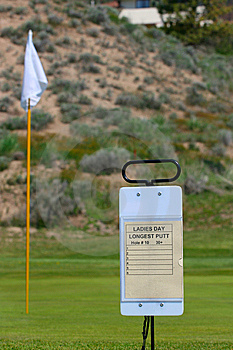 Golfing Sign Royalty Free Stock Image - Image: 14254176