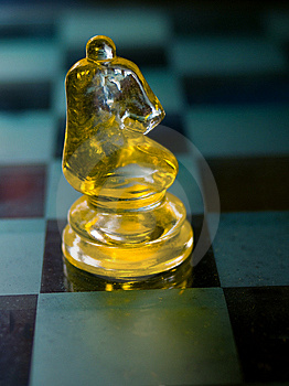 Knight A Glass Chess Piece Stock Images - Image: 14257554