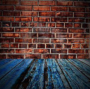 Colored brick wall texture