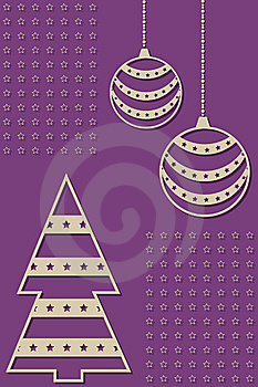 New Year And Marry Christmas Invitation Card Stock Photo - Image: 14261960