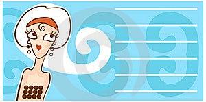 Retro Woman Face Cartoon Banner Stock Photo - Image: 14263080