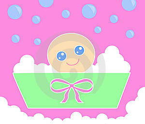 Baby Bath_Pink Royalty Free Stock Images - Image: 14263509