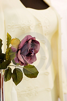 Rose And An Elegant Costume Royalty Free Stock Photo - Image: 14264715