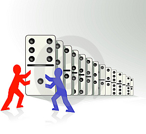 Domino Effect Royalty Free Stock Photography - Image: 14265727