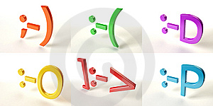 Six Color Smiles Royalty Free Stock Photos - Image: 14266528