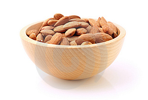 Bowl Of Almonds On White Royalty Free Stock Photography - Image: 14267207