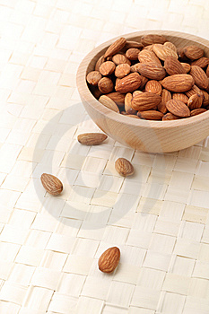 Bowl Of Almonds Royalty Free Stock Images - Image: 14267229