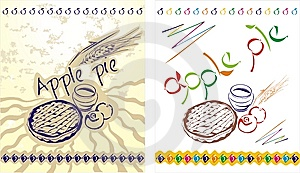 Apple Pie Labels Royalty Free Stock Photos - Image: 14269108