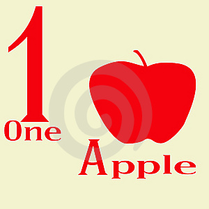 One Apple Royalty Free Stock Images - Image: 14269669