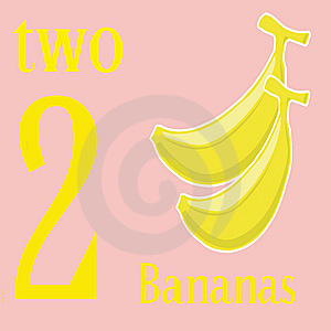 Two Bananas Royalty Free Stock Photos - Image: 14269728