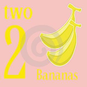 Two Bananas Royalty Free Stock Photos - Image: 14269728
