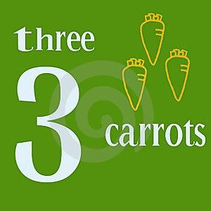 Three Carrots Royalty Free Stock Photos - Image: 14269798