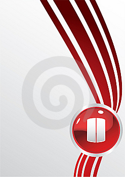 Red Stop Button Royalty Free Stock Image - Image: 14269846
