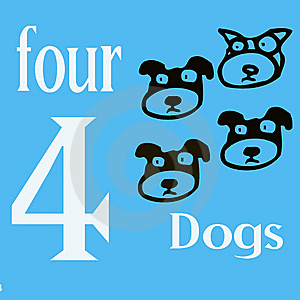 4 Dogs Royalty Free Stock Photos - Image: 14269888