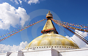 Stupa On Blue Sky Background Royalty Free Stock Images - Image: 14270069