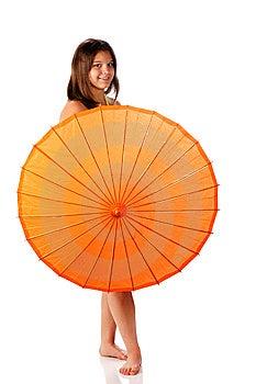 Parasol Teen Royalty Free Stock Photo - Image: 14271295