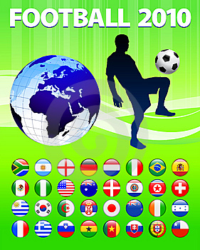 2010 Global Soccer Football Match Royalty Free Stock Images - Image: 14271489