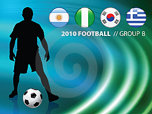 Soccer Player On Abstract Liquid Wave Background Stock Images - Image: 14271624