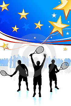 United States Tennis Team Royalty Free Stock Photo - Image: 14271795
