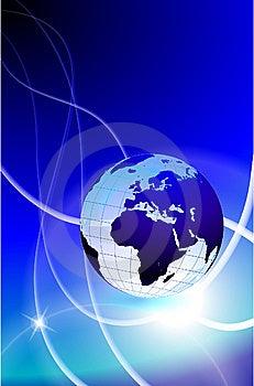 Globe On Light Streak Background Royalty Free Stock Photo - Image: 14272325