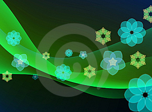 Colorful Abstract Floral Wave Background Royalty Free Stock Photos - Image: 14272568
