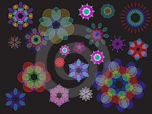 Colorful Abstract Floral Wave Background Stock Photography - Image: 14272602