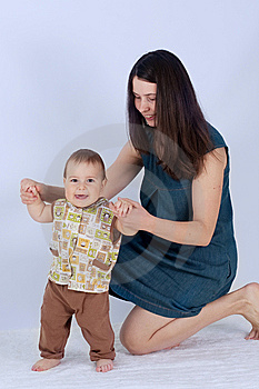 Boy And Mother Royalty Free Stock Photography - Image: 14275357
