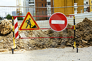 Prohibiting Sign On Building Royalty Free Stock Images - Image: 14275879