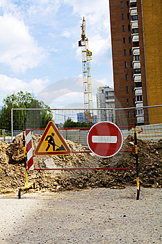 Prohibiting Sign On Building Royalty Free Stock Image - Image: 14275936
