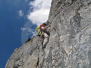 Climbing In Bright Light Stock Photo - Image: 14276150