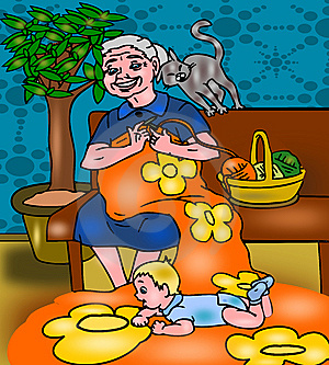 Grandmother With Grandson Royalty Free Stock Photo - Image: 14276285