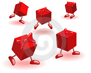 Boxs With Bows Stock Image - Image: 14276831