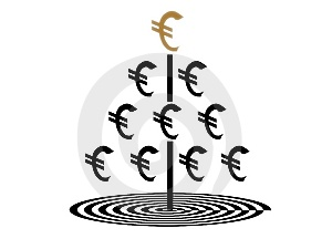 Euro Money Tree Stock Images - Image: 14278244