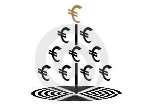 Euro Money Tree Stock Images - Image: 14278244