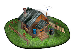 Log Cabin Royalty Free Stock Images - Image: 14278829