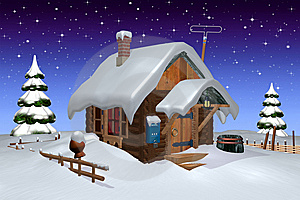 Log Cabin Stock Image - Image: 14278861