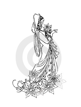 Stylized Bride Royalty Free Stock Photos - Image: 14279518