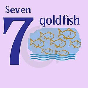 Seven Goldfish Stock Photos - Image: 14280063