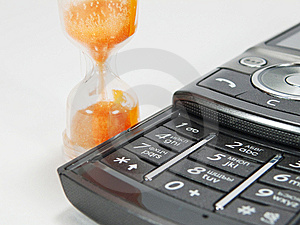 Hourglass And Telephone Royalty Free Stock Image - Image: 14280206