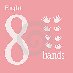 Eight Hands Stock Images - Image: 14281824